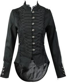 5ae6cbc0325 Women's H&R Steampunk Gothic Parade Tail Coat: Amazon.co.uk: Clothing