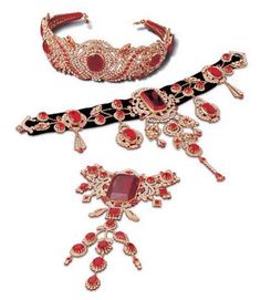 Check out Empress Elizabeth of Austria's ruby parure, I miss the lost art of the parure.