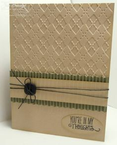 great layout for a man's card, corrugated strip and emboss background, simple