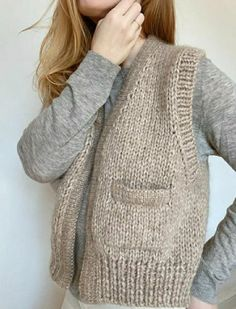 Knit Vest Pattern, Knitting Patterns, Baby Knitting, Vogue Knitting, Diy Clothes, Clothes For Women, Knitwear Fashion, Work Tops, Casual Fall Outfits