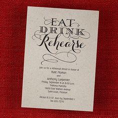 Spirited Summons - Rehearsal Dinner Invitation Quaint Wedding Stationery. Discounted and free shipping! @ http://www.quaintweddingstationery.carlsoncraft.com/ #rehearsaldinner