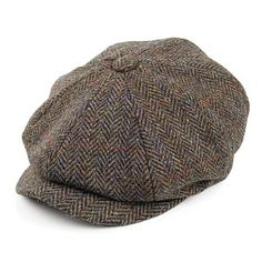 Buy the Failsworth Hats Carloway Harris Tweed Newsboy Cap - Olive-Blue at Village Hats. The destination for hats and caps online. Baker Boy, Herren Outfit, News Boy Hat, Flat Cap, Harris Tweed, Cool Hats, Mens Caps, Hats For Men, Grosgrain