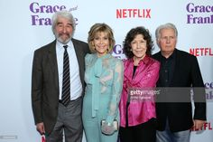 Sam Waterston, Jane Fonda, Lily Tomlin, and Martin Sheen attend the screening for Netflix's 'Grace and Frankie' Season 3 at ArcLight Hollywood on March 22, 2017 in Hollywood, California.
