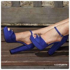sandália salto alto - azul bic - high heels - party shoes - Inverno 2015 - Ref. 15-3904