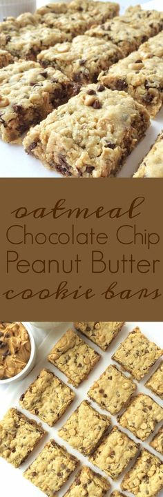Oatmeal Chocolate Chip Peanut Butter Bars- I used butterscotch chips instead of PB. Oatmeal Chocolate Chip Peanut Butter Bars- I used butterscotch chips instead of PB. Dessert Oreo, Dessert Bars, Peanut Butter Chips, Peanut Butter Recipes, Peanut Butter Oatmeal Bars, Just Desserts, Delicious Desserts, Yummy Food, Barres Dessert