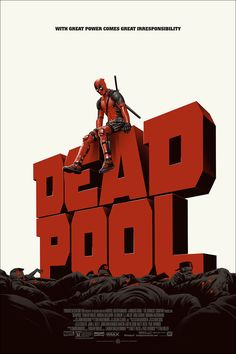 "Deadpool (Version 1) by Phantom City Creative. 24""x36"" screen print. Hand numbered. Edition of 275. Printed by D&L Screenprinting. $45"