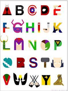 Marvel Alphabet by Kamionero
