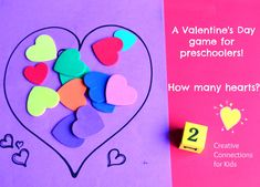 Roll a number and add that # of candy hearts.