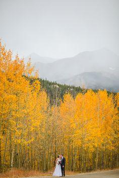 Elopement in Breckenridge, Colorado. I love fall in the mountains!