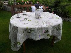 Linen tablecloth Provence by shabby.romantic - SAShE.sk - Handmade