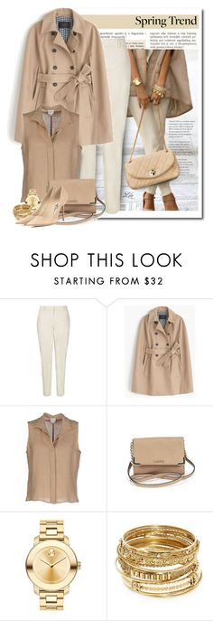 """Trench coat  cape"" by fashion-architect-style ❤ liked on Polyvore featuring J.Crew, Armani Collezioni, Calvin Klein, Movado, ABS by Allen Schwartz and Jimmy Choo"