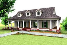 Country Style House Plans - 2123 Square Foot Home , 1 Story, 3 Bedroom and 2 Bath, 2 Garage Stalls by Monster House Plans - Plan 49-148