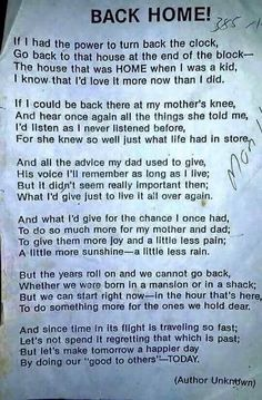 Back home poem - Google Search