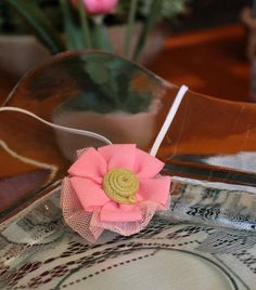 Hair accessory2 Shabby Chic Hair clip Rose by bitsybowsandthings, $6.00