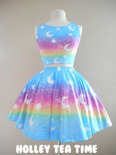 ✨ Magical Fairy Time ✨ Skater Skirt Rainbow Sunny Day MADE TO ORDER ✨ Super Sale Series ✨ - Thumbnail 1