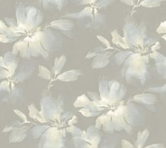 York Wallcoverings Candice Olson Tranquil Midnight Blooms - Square F Light Blue / Gray Wall Coverings Wallpaper Grey Floral Wallpaper, Embossed Wallpaper, Brick Wallpaper, Paper Wallpaper, Wallpaper Panels, Bathroom Wallpaper, Wallpaper Roll, Bathroom Grey, Metallic Wallpaper