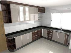Idéias para decorar seu lar no Habitissimo Kitchen Cupboard Designs, Kitchen Design Open, Interior Design Kitchen, Kitchen Layouts, Kitchen Modular, Modern Kitchen Cabinets, Home Decor Kitchen, Home Kitchens, Cuisines Design
