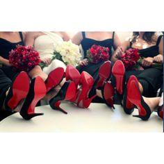 Louboutin bride and bridesmaids