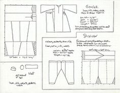 gomlek pattern | shalvargomlek (V_M_G) Tags: costume pattern sca craft turkish gomlek ...