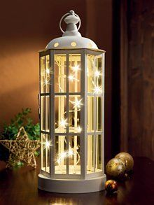 White Lantern String Of Christmas Lights Holidays Lanterns