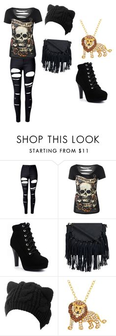 """""""Rock Kitten"""" by tigeress828 ❤ liked on Polyvore featuring WithChic and Animal Planet"""