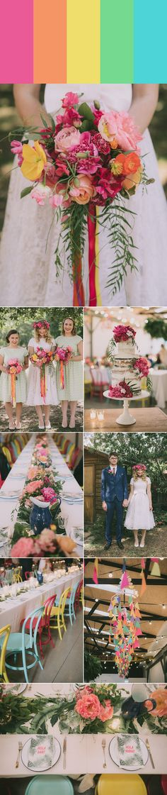 Having all the colors of the rainbow at your wedding doesn't mean it has to be tacky | photos by Madeline Druce Photography