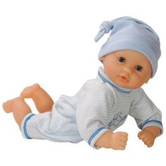 """Corolle Mon Premier Calin Sky Baby Doll by Corolle. $37.95. Calin is the perfect ?my first baby? doll. This lightweight doll is fun to carry around, hug, and snuggle. Every Corolle doll is styled in France. A soft bean filled body allows this doll to posed and played with like a real baby. Every Corolle doll is created with emotion, expertise and French style. From the Manufacturer                Calin is the perfect """"my first baby"""" doll. A soft bean filled body all..."""