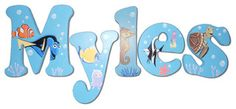 Custom Painted Finding Nemo Letters
