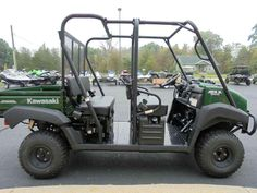 New 2016 Kawasaki Mule™ 4010 Trans4x4® ATVs For Sale in Michigan. The Mule™ 4010 TRANS4X4® side X side is a versatile mid-size two to four-passenger workhorse that's capable of both putting in a hard day of work as well as touring around the property. Flexible convertible design lets you easily change from a four-seat crew mover to a two-seat cargo hauler, without the need for tools 617cc fuel-injected, V-Twin engine produces reliable performance Selectable 2WD or 4WD with dual-mode rear…