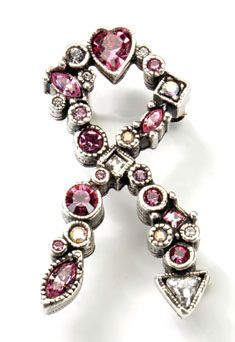 Breast Cancer Awareness Broach Pin      Created by famed premier jewelry designer Patricia Locke. This is beautiful!