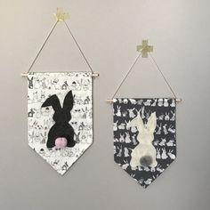 Banner de pared de conejito de Pascua los niños habitación
