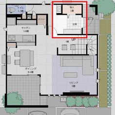 【WEB内覧会】玄関ホール|ちょうど良い広さ&エレガントなアクセントウォール | ダイワハウスXEVOΣで家を建てた記録 in 2018 Floor Plans, House, Home Decor, Decorations, Decoration Home, Home, Room Decor, Dekoration, Haus