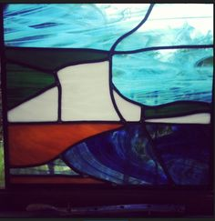 Stained glass lead work Seven Sisters and Cuckmere Haven