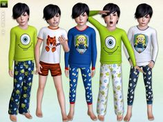Boys Sleepwear Set by Lillka - Sims 3 Downloads CC Caboodle