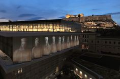 The Acropolis Museum (Mouseio Akropolis) is an archaeological museum focused on the findings of the archaeological site of the Acropolis of Athens. Athens Acropolis, Athens Greece, Parthenon Greece, Athens By Night, Greece Tours, Empire Ottoman, Ancient Greek Architecture, Archaeological Site, Temples