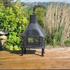 Large Log Burner and Barbecue