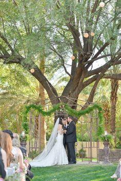Stunning blush pink vintage inspired Secret Garden Wedding in Phoenix, Arizona