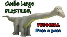 Como hacer un dinosaurio cuello largo de plastilina / How to make a long...