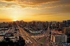 Cae el Sol en Santiago...