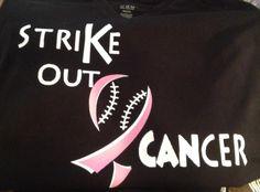 baseball  strike out cancer  ribbon breast cancer