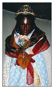 Sara-la-Kali, beloved of les Gitans, Black Goddess, daughter of Jesus and the Magdalene...and so on.