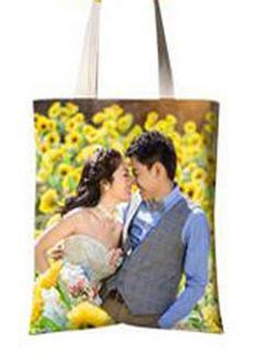 Personalized own photo logo picture shopping tote bag zipper custom made gift #handmade #ShoulderBag