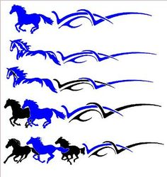 Horse Farm Tribal Side Body Graphics Decal Decals Truck Trailer - Truck horse decals