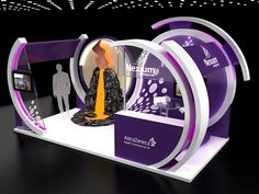 Nexium booth on Behance Exhibition Stall Design, Exhibition Display, Web Banner Design, Kiosk Design, Display Design, Front Elevation Designs, Electronic Shop, Event Marketing, Stand Design