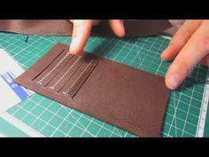 Процесс изготовления вертикального кармана для пластиковых карточек (для кошелька)