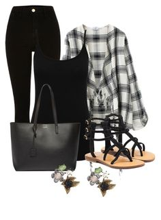 """""""Untitled #2661"""" by janicemckay ❤ liked on Polyvore featuring M&Co, Mystique, Yves Saint Laurent and Betsey Johnson"""