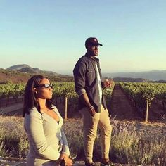 King James & his wife spending some anniversary time together