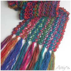 Crochet Candy Scarf Pattern be Atty-s - Daliute - Crochet Scarf Diagram, Crochet Chart, Diy Crochet, Crochet Stitches, Crochet Patterns, Crochet Scarves, Crochet Clothes, Crochet Accessories, Shawls And Wraps
