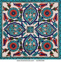 Turkish artistic wall tile by Orhan Cam, via ShutterStock