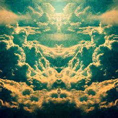 Leif Podhajsky designs a ton of album art and images. His works involve distorting landscape images in geometric ways. This distortion gives the art a kaleidoscopic effect.    While this image in particular only has a very simple distortion, some of his works can be very complex.